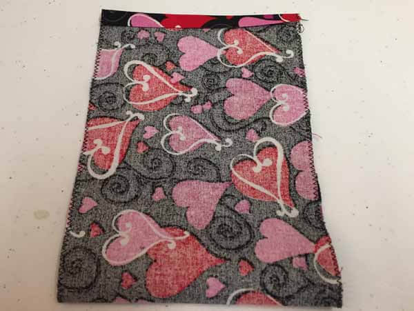 Valentines Goodie Bag Tutorial - fabric folded