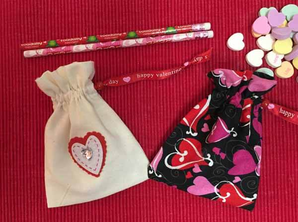 Valentines Goodie Bag Tutorial - Finished view 2