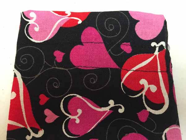 Valentines Goodie Bag Tutorial - stitch flat seams