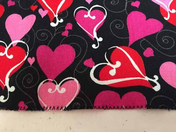 Valentines Goodie Bag Tutorial - fabric