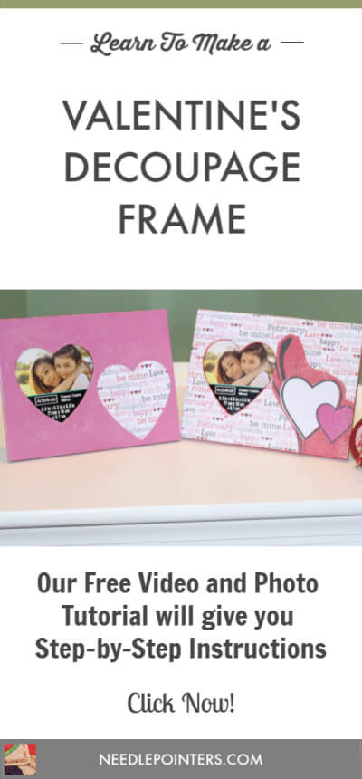 Decoupage Frame with Scrapbook Paper