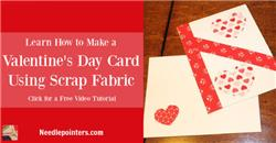 Fabric Valentine's Day Card
