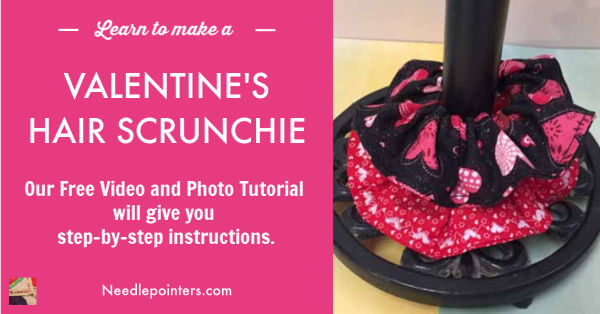 Valentine's Hair Scrunchie