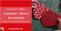Wooden Heart or Foam Heart Decoration