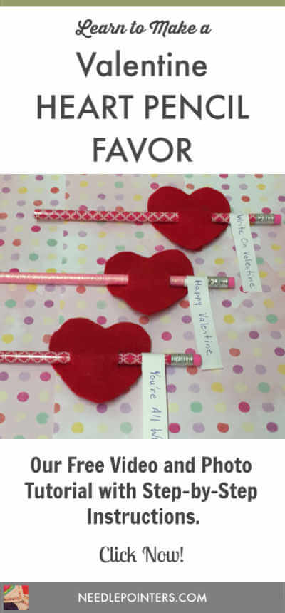 Valentine Heart Pencil Favor