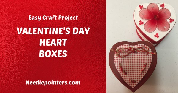 HOW TO MAKE VALENTINE'S DAY HEART BOXES