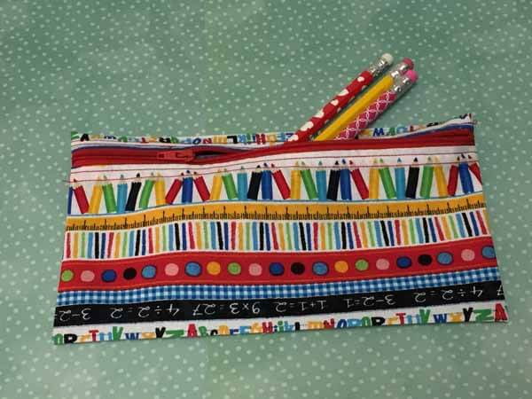 Zippered Pencil Case with Pencils