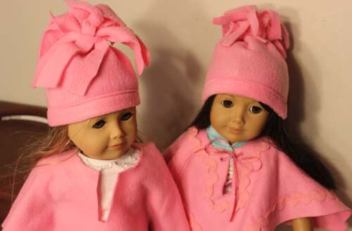 American Girl Doll Fleece Hat