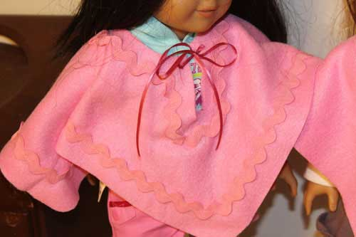 American Girl Doll Poncho Embellished