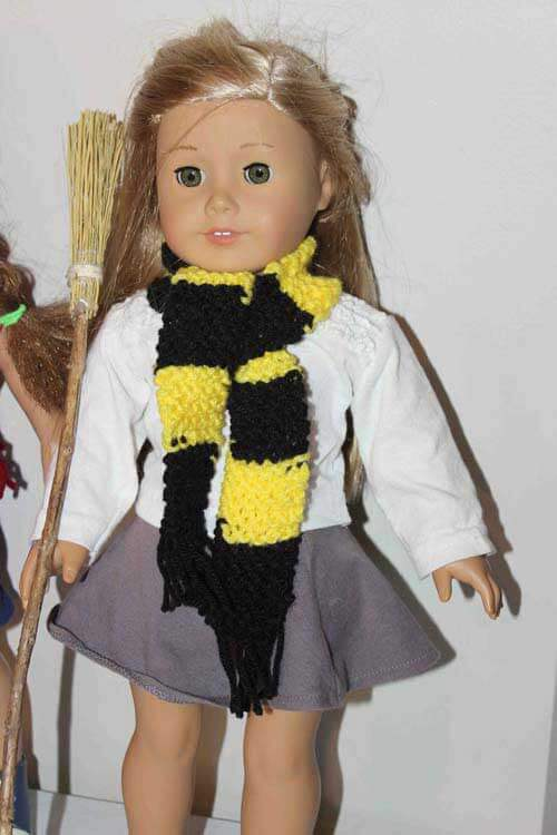 Harry Potter theme doll scarf