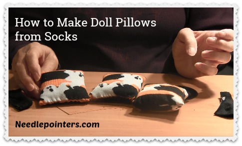 How to make Doll Sock Pillows from a Sock