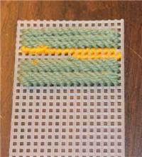 How to End Yarn (Plastic Canvas Basics)