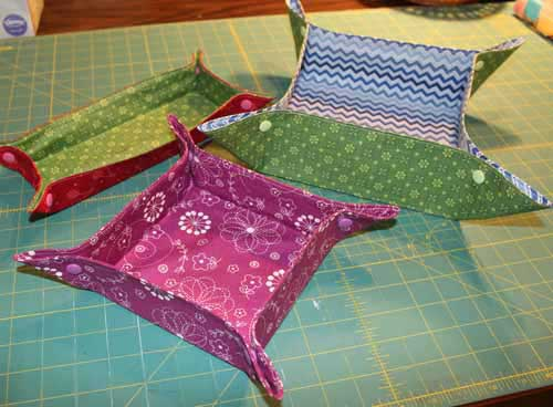 Fabric Tray Tutorial - Finished Tray
