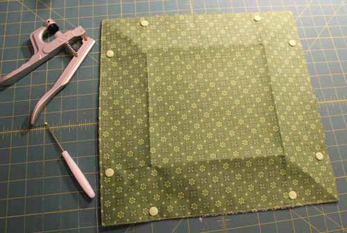 Fabric Tray Tutorial - Install Kam Snaps