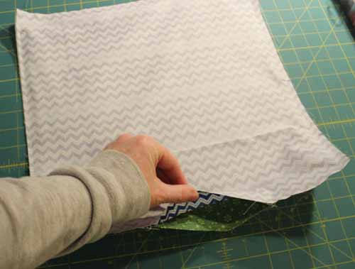 Fabric Tray Tutorial - Leave opening for turning