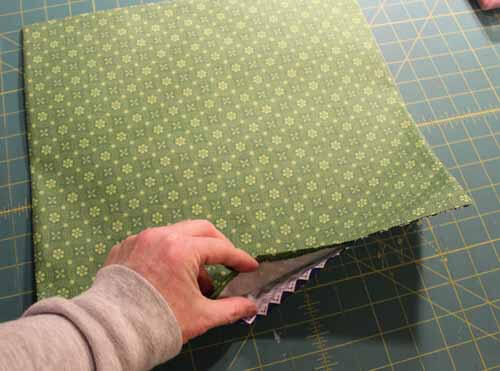 Fabric Tray Tutorial - Press opening edges to inside