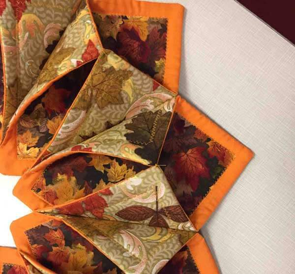 Fall Fold'n Stitch Wreath - Close Up