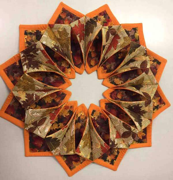 Fall Fold'n Stitch Wreath