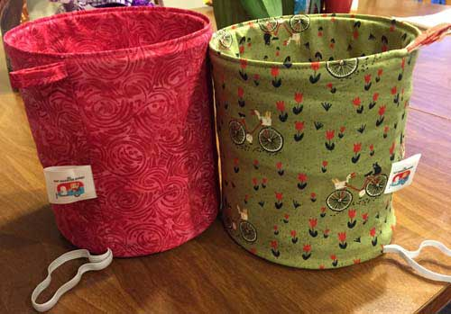 Fat Quarter Pop Up basket - two versions