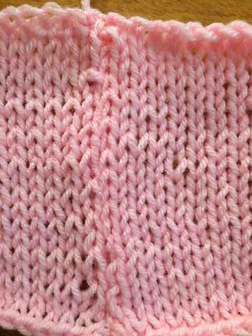 Mattress Stitch Knit Tutorial - Finished Front Side