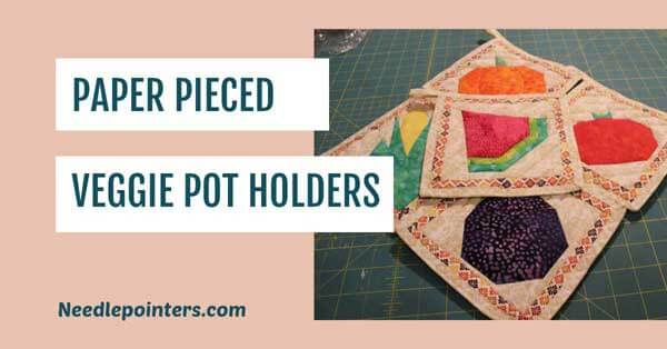 Paper Pieced Veggie Pot Holders