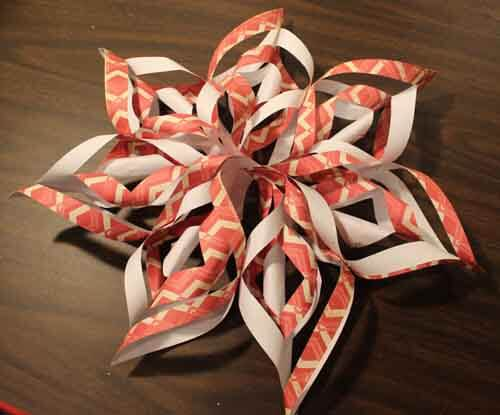 3D Paper Snowflake Finished