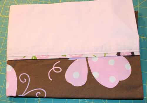How to make a Pillowcase - Finished Pillowcase