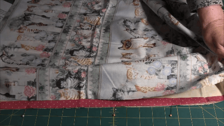 How to Make a Pillowcase - Assembling the fabric