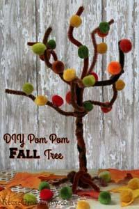 Fall Craft – Easy Pom Pom Fall Tree