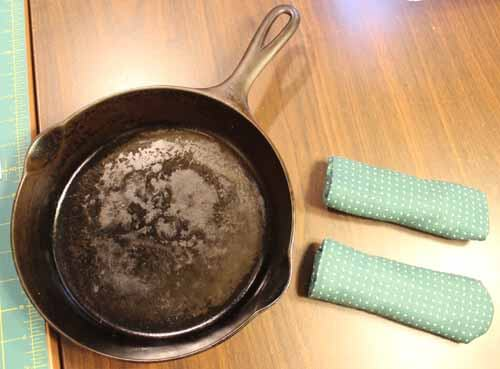 Cast Iron Skillet Handl Cover Tutorial