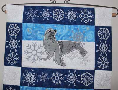 Snowflakes and Animals Table Runner