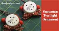 Snowman Tea Light Ornament