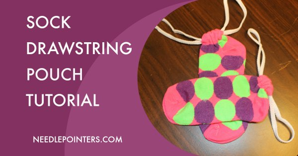 Sock Drawstring Pouch Tutorial