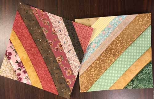 String Piecing Sample - Two blocks