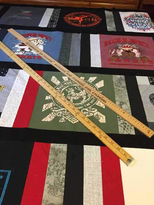 T-Shirt Quilt Marking with Rulers