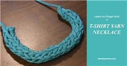 T-Shirt Yarn Necklace - How to Make