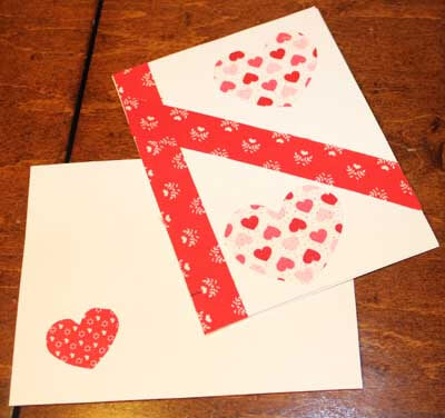 Fabric Valentine Card