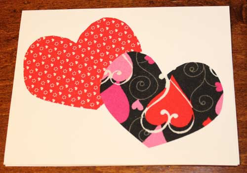 DIY Fabric Heart Card