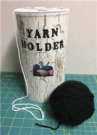 Yarn Holder - Oatmeal Canister Yarn Holder