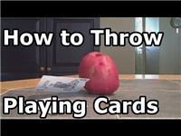 How to Throw a Playing Card