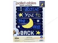 Janlynn Plastic Canvas Kit - Love You To The Moon