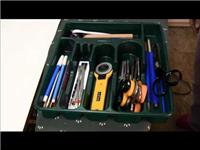 STORAGE IDEA FOR SEWING AND QUILTING TOOLS