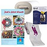 Fold 'n Stitch Wreath Kit: Pattern, Fusible Web, Foam Stabilizer (For 2 Wreaths)