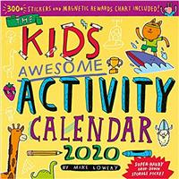 Kids Awesome Activity 2020 Wall Calendar