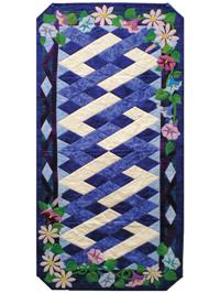September Morning Glories Table Runner Pattern