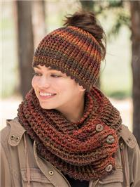 Messy Bun and Cowl Crochet Pattern