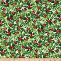 A Poinsettia Winter Holly/Berries Red/Green
