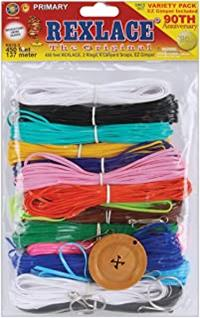 Rexlace Plastic Lace Pack-Primary