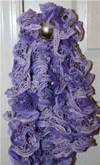 Ruffled Knit Scarf